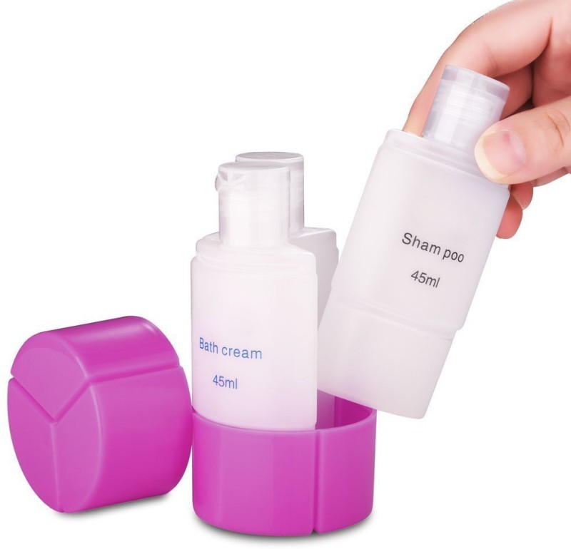 House of Quirk 3 in 1 Leakproof Travel bottle Organizer kit 45 ml Shampoo Dispenser(Multicolor)