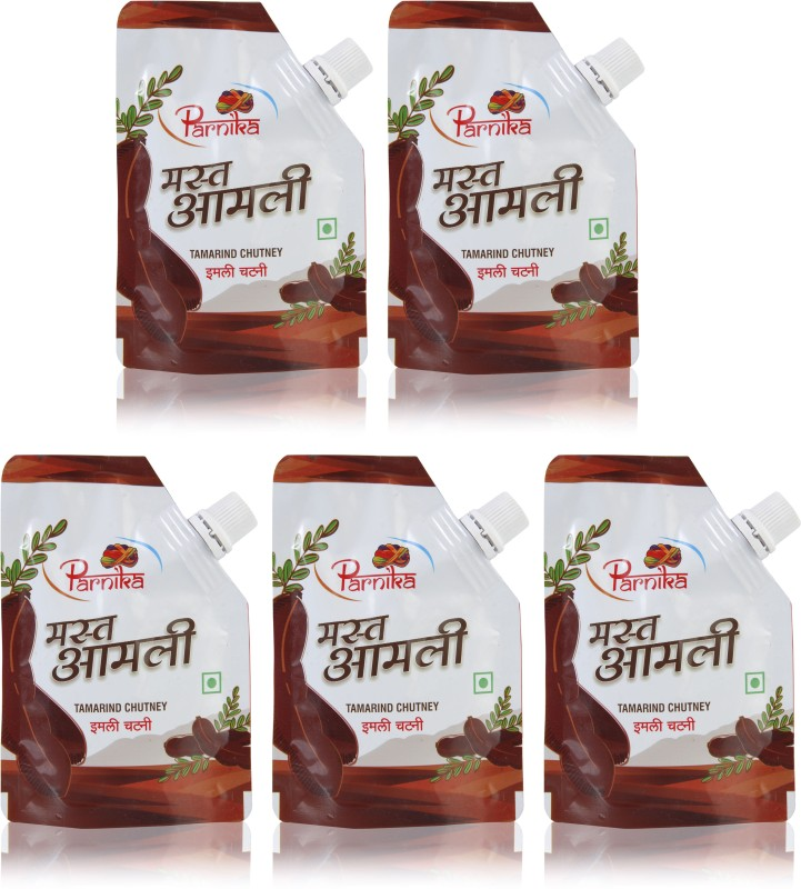 Parnika [Pack of 5] Tamarind Chutney - Mast Imli(500 g, Pack of 5)