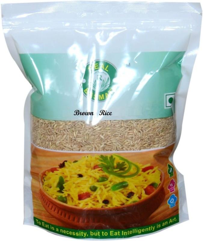 Real Basmati brown Brown Long Grain Rice (Long Grain, Parboiled)(1000 g)
