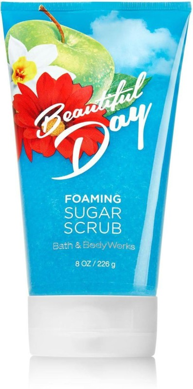 Bath & Body Works Foaming Sugar Scrub, Beautiful Day - 226g (8oz) Scrub(226 g)
