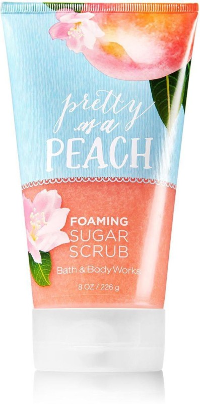 Bath & Body Works Foaming Sugar Scrub, Pretty as a Peach - 226g (8oz) Scrub(226 g)