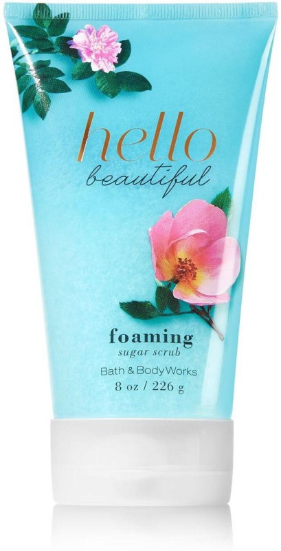 Bath & Body Works Foaming Sugar Scrub, Hello Beautiful - 226g (8oz) Scrub(226 g)