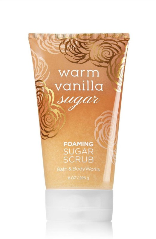 Bath & Body Works Foaming Sugar Scrub, Warm Vanilla Sugar - 226g (8oz) Scrub(226 g)