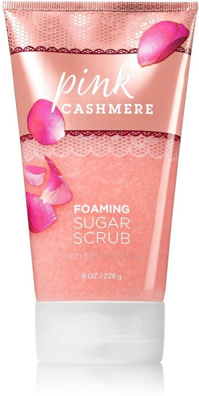 Bath & Body Works Foaming Sugar Scrub, Pink Cashmere - 226g (8oz) Scrub(226 g)