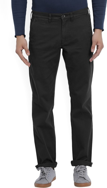Wrangler Slim Fit Mens Black Trousers