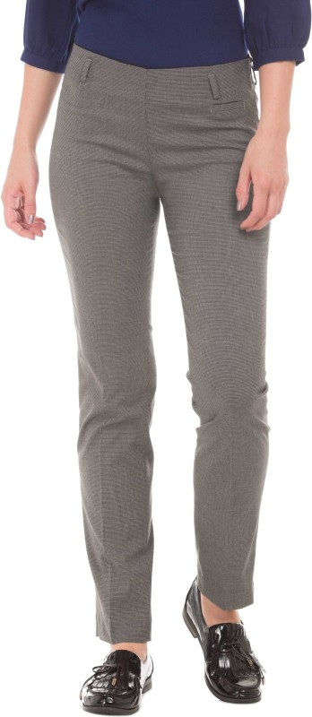 Arrow Regular Fit Women Grey Trousers