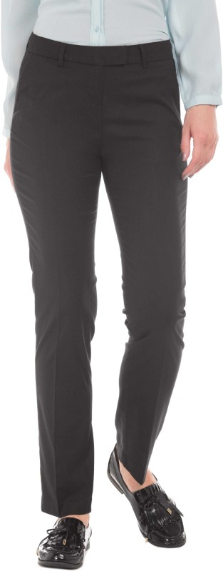 Arrow Regular Fit Women Black Trousers