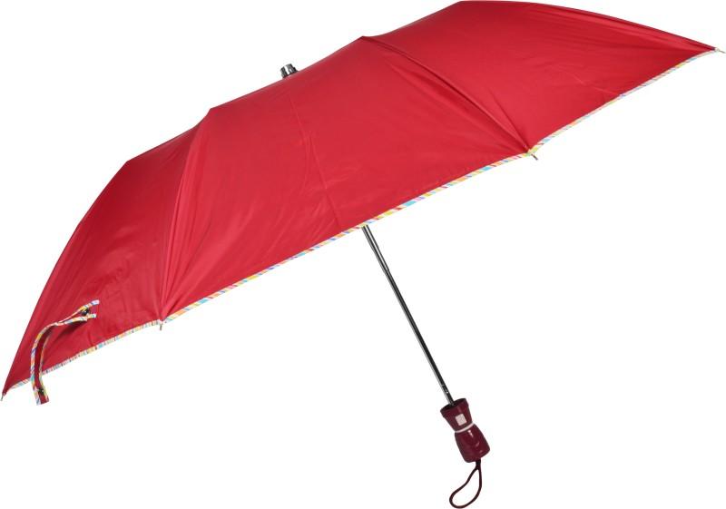 Fendo 2 Fold Auto Open Beautiful Maroon Color Umbrella(Maroon)
