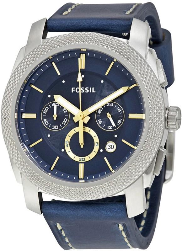 Fossil FS5262 Machine Blue Dial Men's Chronograph Men's Watch image