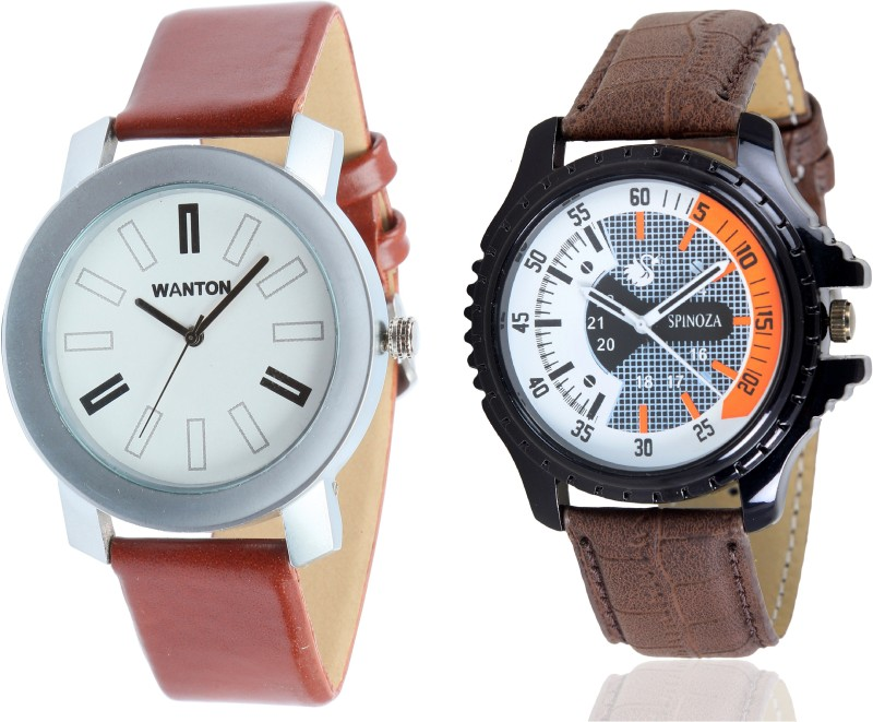Wanton 01S03D21 brown dial sport watch with silver professional watch combo for men and women Watch - For Boys & Girls