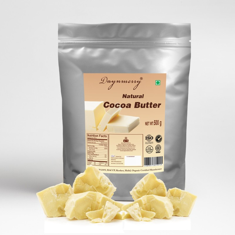Daynmerry Natural Cocoa Butter- 500 gm Cocoa Fat Solid(500 g)