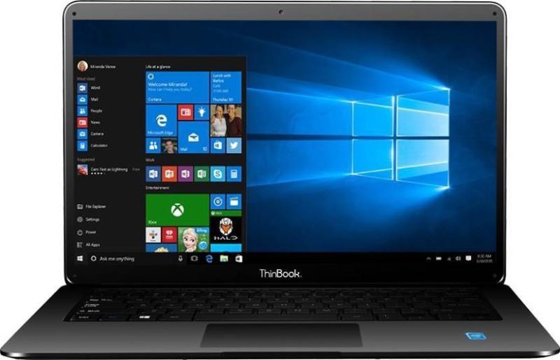 RDP ThinBook Atom Quad Core 8th Gen - (2 GB/32 GB EMMC Storage/Windows 10) 1430-EC1 Laptop(14.1 inch, Grey) image