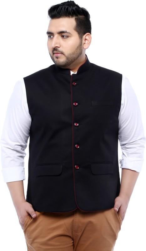 John Pride Sleeveless Solid Men Linen Jacket