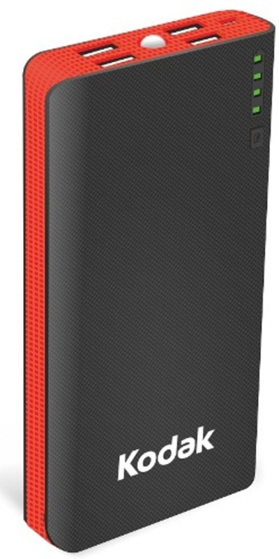Kodak 15000 mAh Power Bank (PB P03-K/15000mAh)(Black, Red, Lithium-ion)