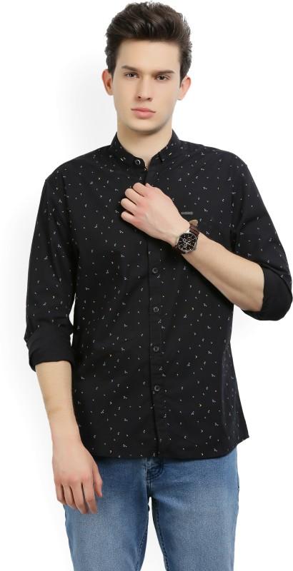 Wrangler Mens Printed Casual Spread Shirt