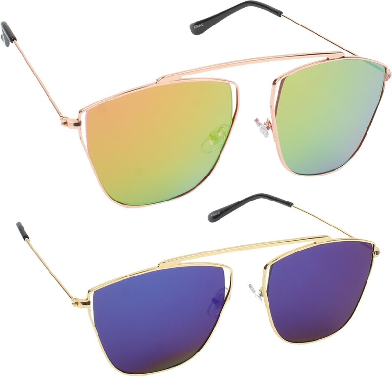 Hob Epic Ink Aviator Sunglasses(Yellow) image