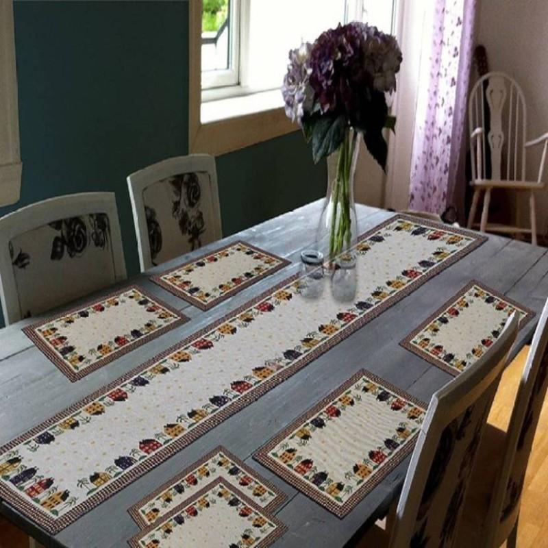 Galaxy Home Decor Multicolor 45 cm Table Runner(Jacquard)