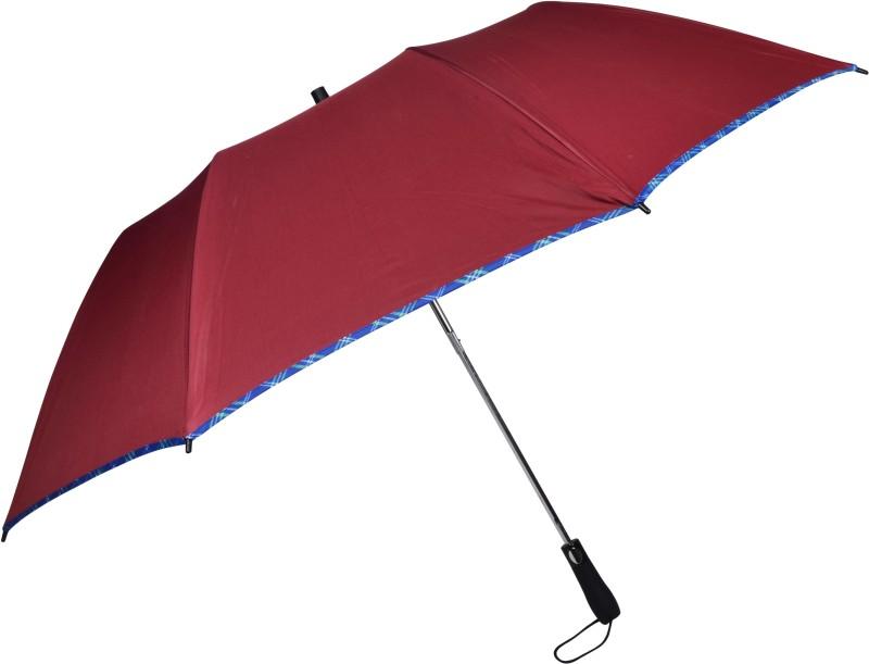 Murano 2 Fold Automatic Wonderful designs and Rain & Sun Protection Umbrella(Maroon)