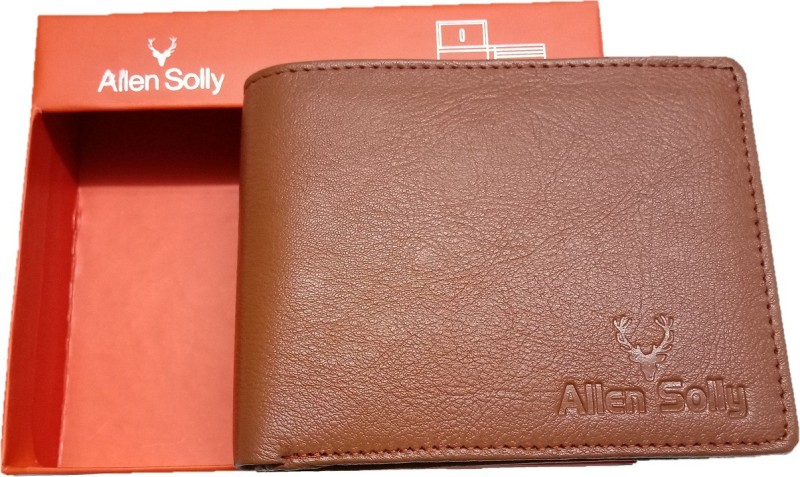 Allen Solly Men Tan Genuine Leather Wallet(6 Card Slots)