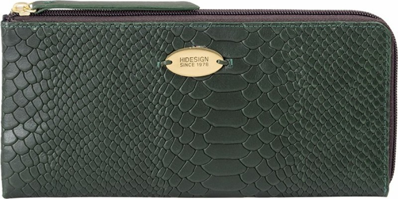 Hidesign Women Green Genuine Leather Wallet(1 Card Slot)