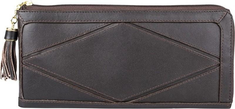 Hidesign Women Brown Genuine Leather Wallet(1 Card Slot)