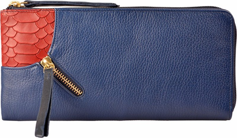 Hidesign Women Blue Genuine Leather Wallet(1 Card Slot)