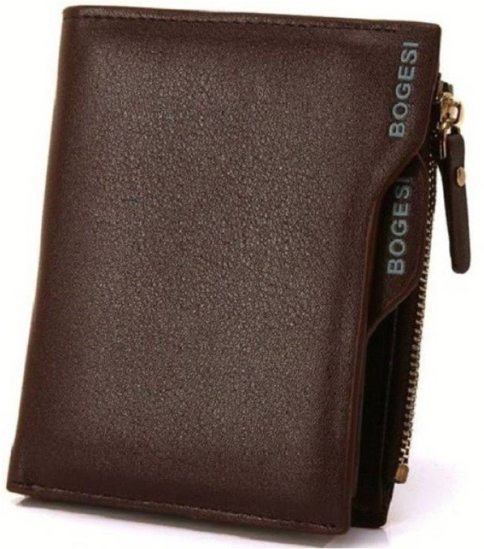 Bogesi Boys Brown Artificial Leather Wallet(7 Card Slots)