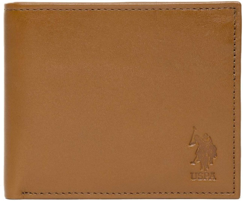 U.S. Polo Assn Men Brown Artificial Leather Wallet(8 Card Slots)