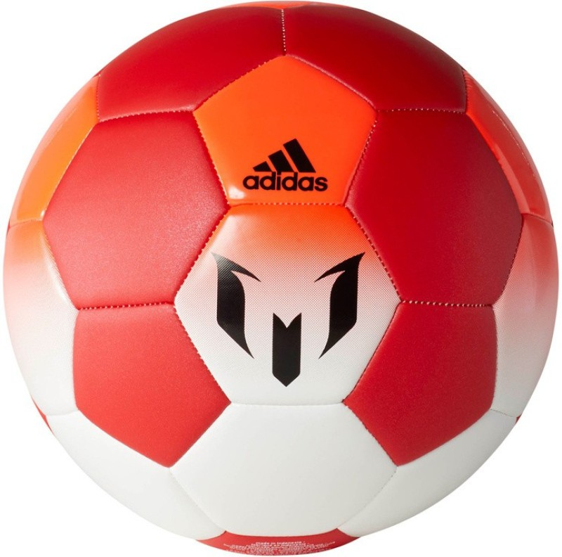 ADIDAS Messi Q1 Football - Size: 5(Pack of 1, White, Red)
