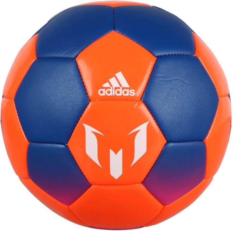 ADIDAS MESSI Q2 Football - Size: 4(Pack of 1, Blue, Orange)