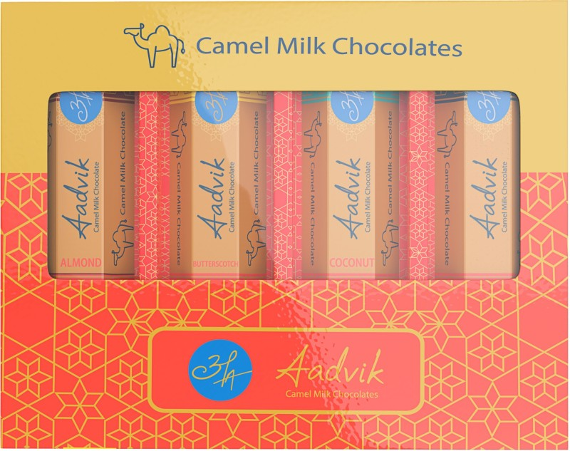 Aadvik Camel Milk Chocolate Bars(Pack of 4, 112 g)
