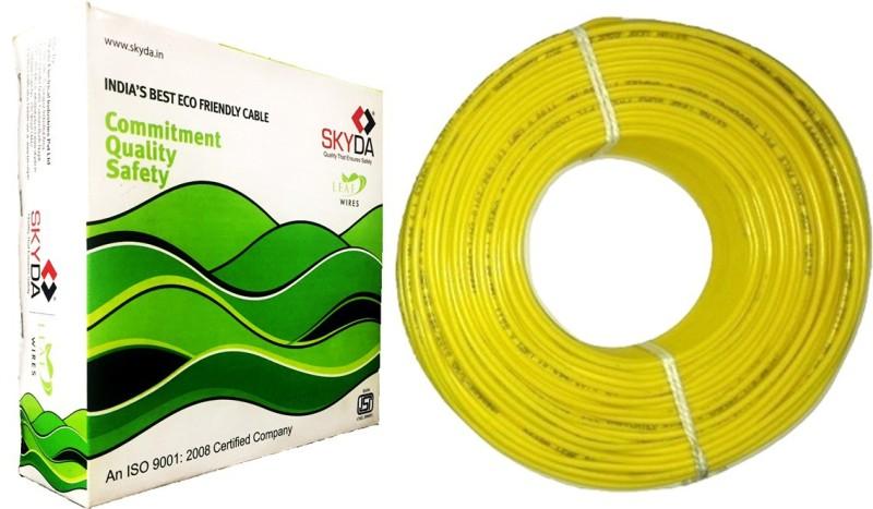 SKYDA PVC 2.5 sq/mm Yellow 90 m Wire(Yellow)