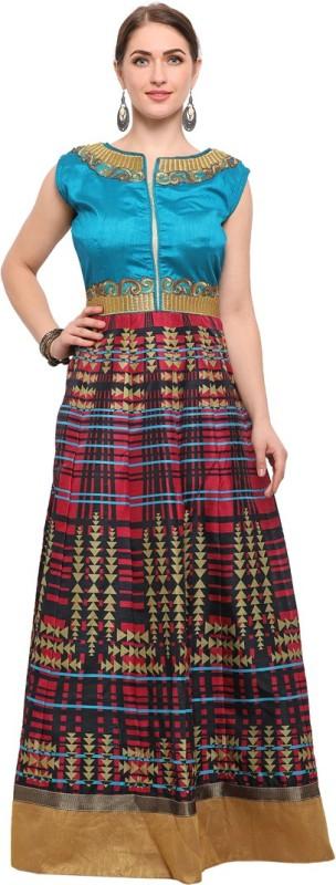 Saara Art Silk Embroidered Dress/Top Material(Un-stitched)