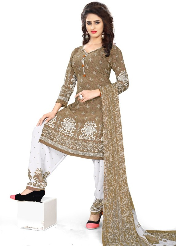 Saara Crepe Paisley, Printed Salwar Suit Dupatta Material(Un-stitched)