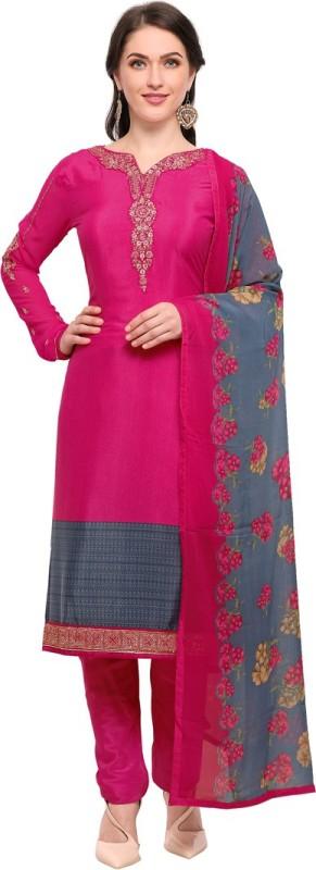 Saara Crepe Solid Semi-stitched Salwar Suit Dupatta Material
