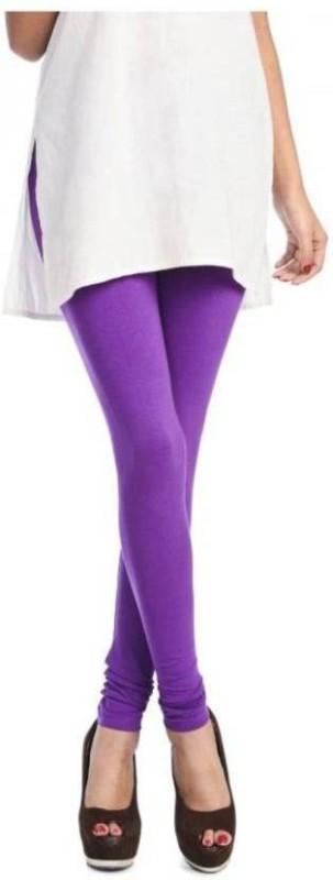 Elegant Shopping Churidar  Legging(Purple, Solid)