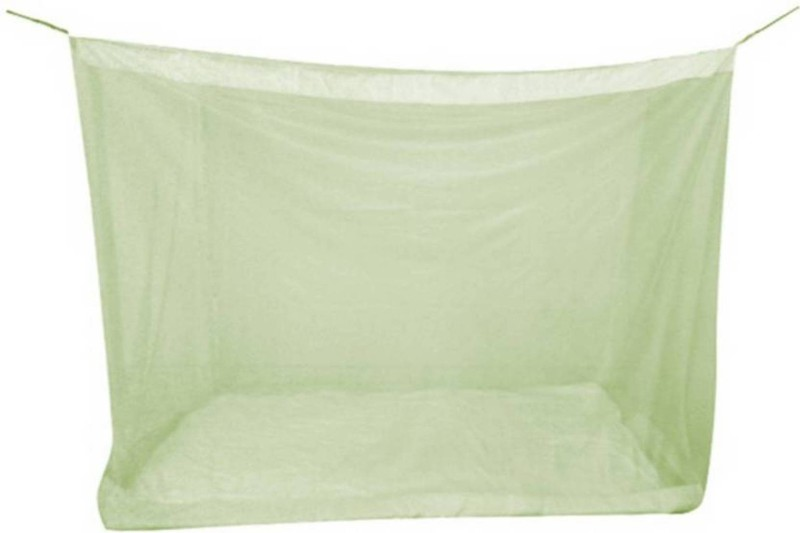 Shreejee Nylon Adults Double Bed Lgreen color Mosquito Net 6x6 feet 1 Mosquito Coil