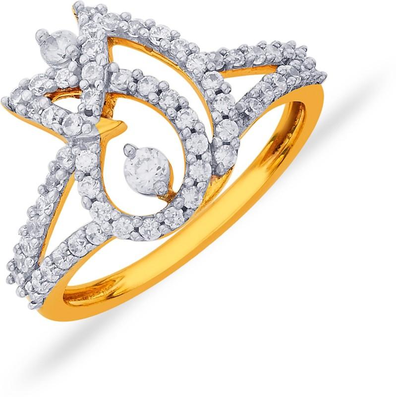 P.N.Gadgil Jewellers Lotus Floral 18kt Diamond Yellow Gold ring
