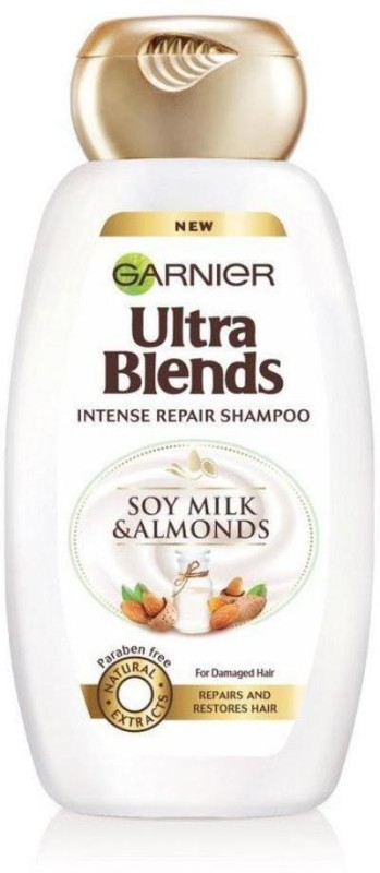 Garnier New Ultra Blends Soy Milk & Almonds, Intense Repair Shampoo(340 ml)