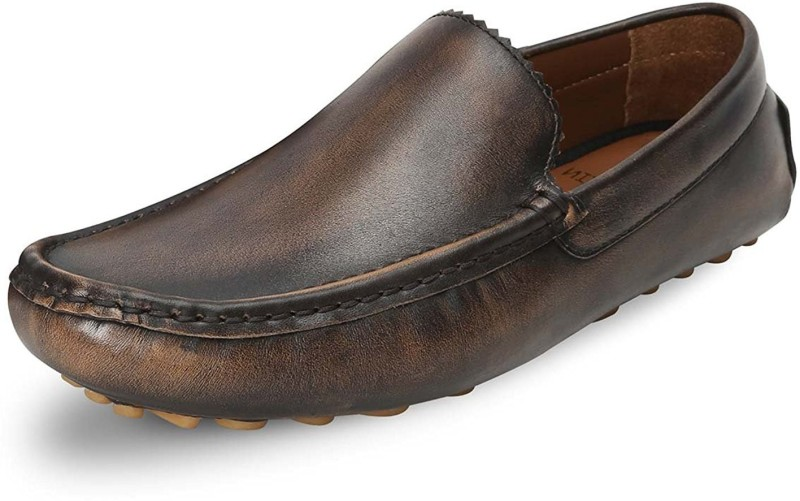 Bare Skin Loafers For Men(Brown)