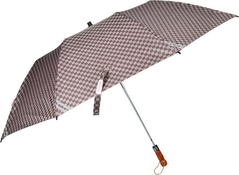 Murano Automatic 2-Fold Umbrella Lightweight Umbrella(Brown)