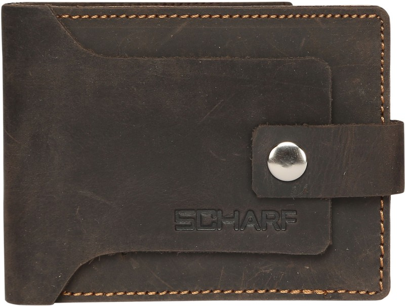 SCHARF Men Black Genuine Leather Wallet(6 Card Slots)