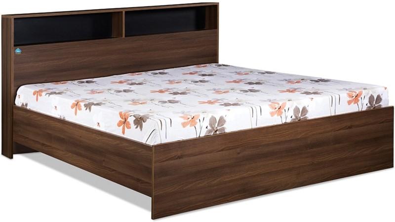 Delite Kom Urban Engineered Wood Queen Bed(Finish Color - Acacia Dark & Black)