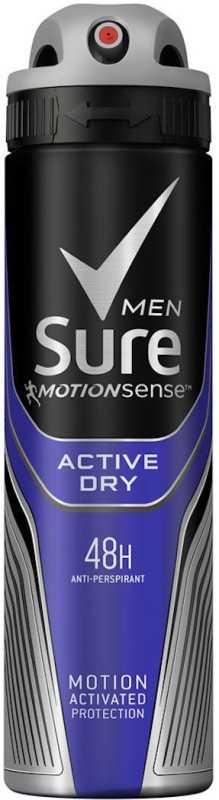 Sure Men Active Dry Antiperspirant Deodorant combines MotionSenseTM technology with a clean, energising fragrance Deodorant Spray - For Men(230 ml)