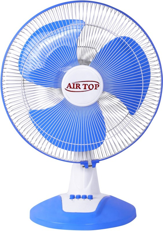 Airtop 16 Table Fan High Speed 3 Blade Table Fan(White Blue)