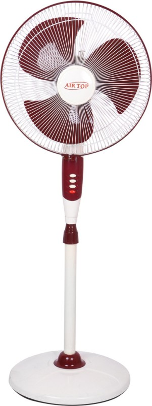 Airtop 16 Pedestal Fan Normal Speed 3 Blade Pedestal Fan(Ivory cherry, White)