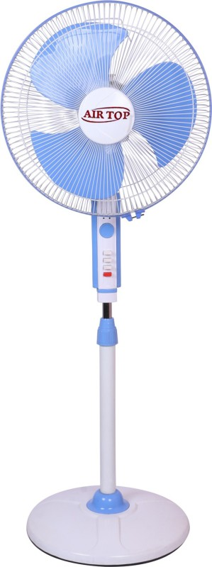 Airtop 16 Pedestal Fan Normal Speed 3 Blade Pedestal Fan(White blue)