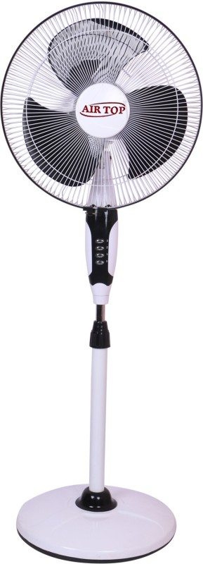 Airtop 16 Pedestal Fan Normal Speed 3 Blade Pedestal Fan(White, Black)