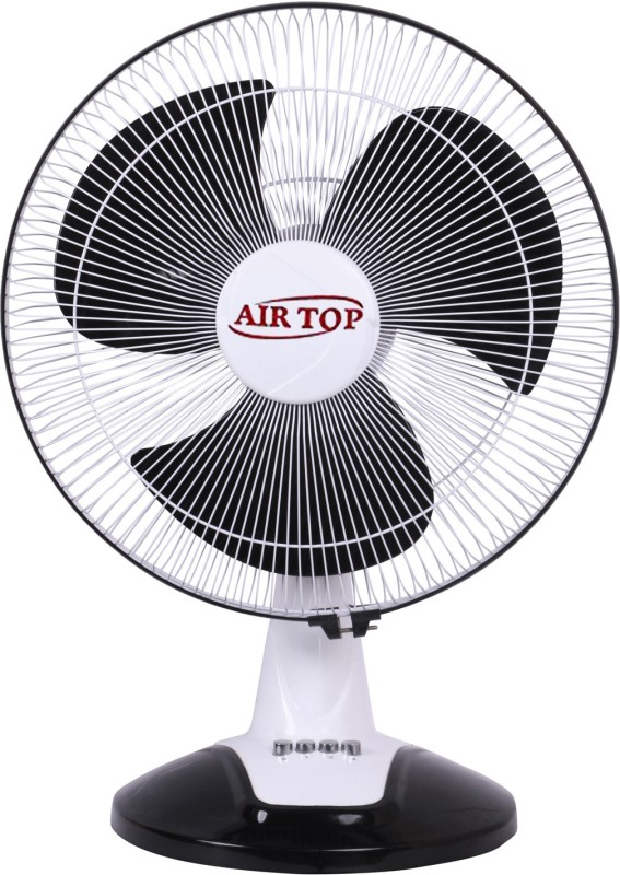 Airtop 16 Table Fan High Speed 3 Blade Table Fan(White Black)