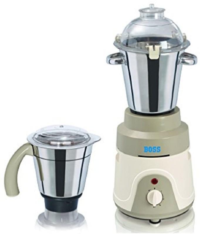 Boss Ruf Tuf 1000 Mixer Grinder(Cream, 2 Jars)
